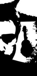 Black and white logo portrait